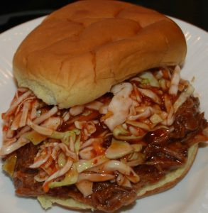 Pulled Pork BBQ and Hot Slaw…Yum, Yum!!!!