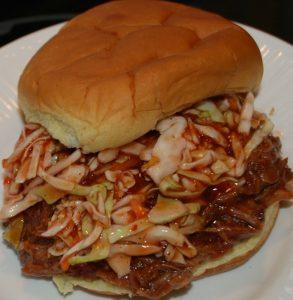 Pulled Pork BBQ and Hot Slaw…Yum, Yum!!!!