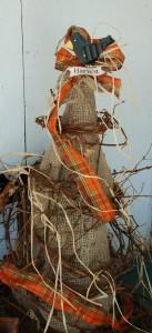 Burlap Tree with Crow