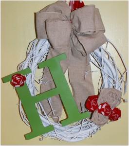 I Made It Myself Monday:  Front Door Wreath