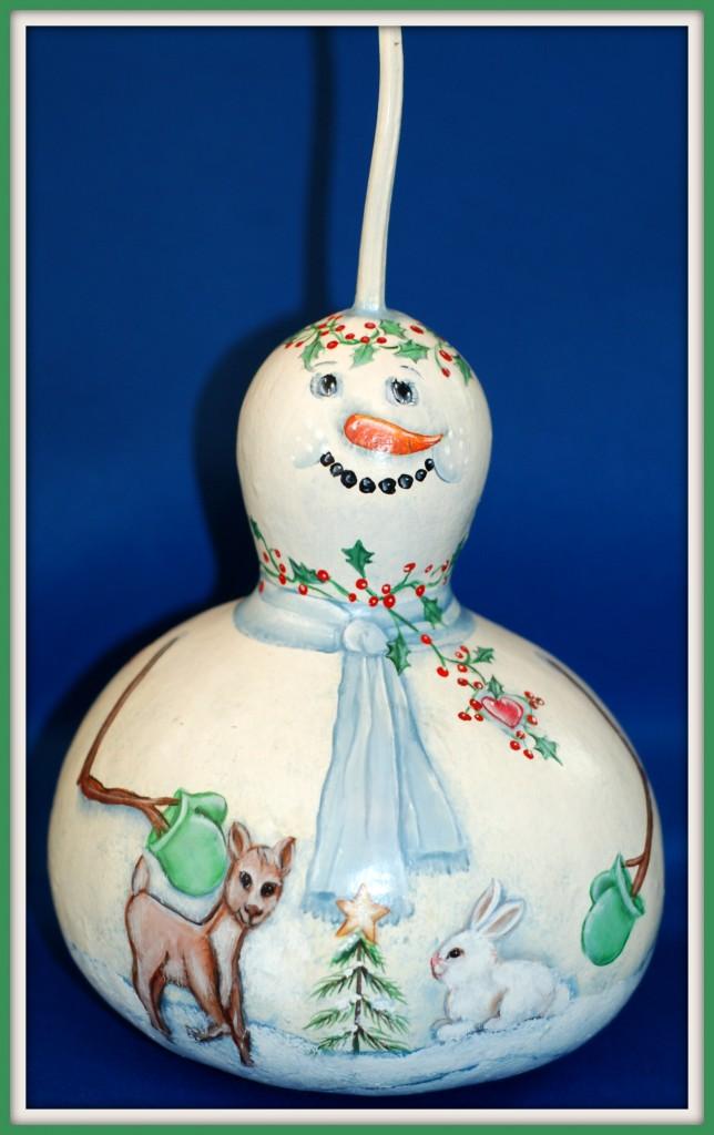 Snowman Gourd