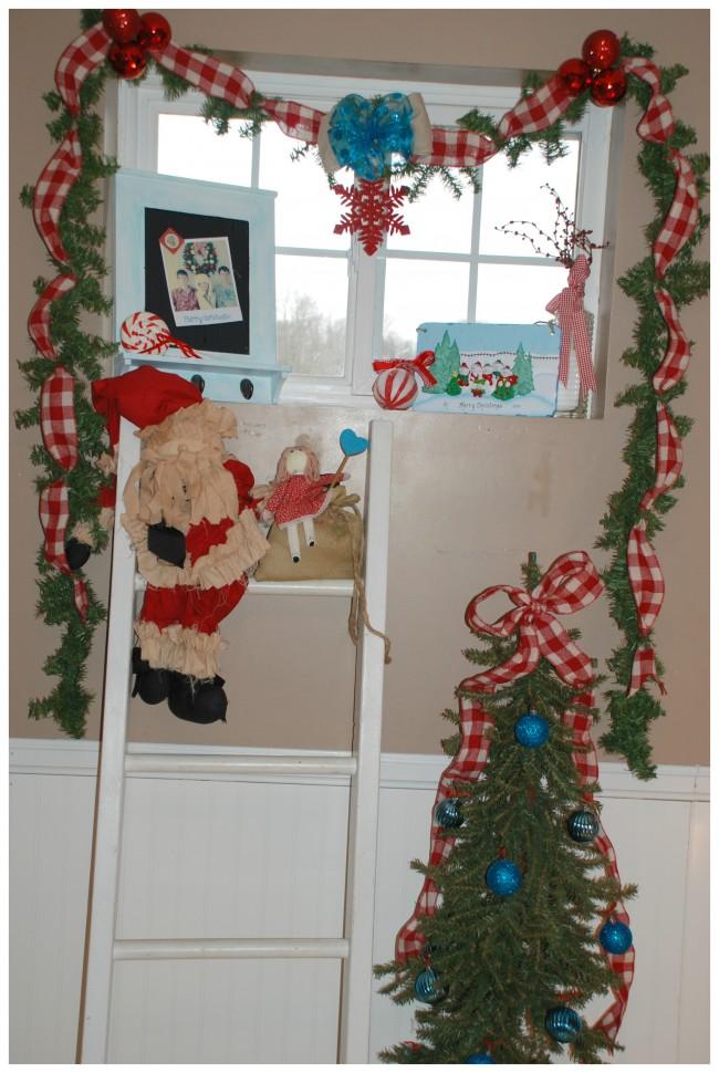 Christmas Home Tour  Hall Window