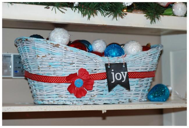 Christmas Home Tour  Joy Basket