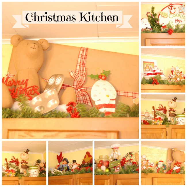 Christmas Cabinet Tops