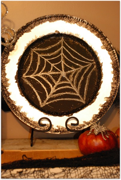 Halloween Spider Web Plate!