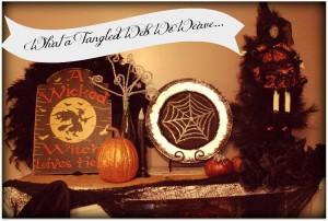 Halloween Spider Web Plate!!