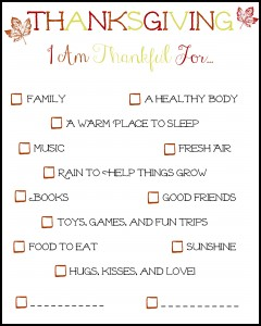 There's Always Something To Be Thankful For (Including This Free Printable)!