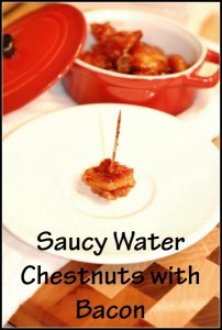 Saucy Water Chestnuts with Bacon