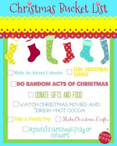 My Christmas Bucket List + A Bucket List Printable!