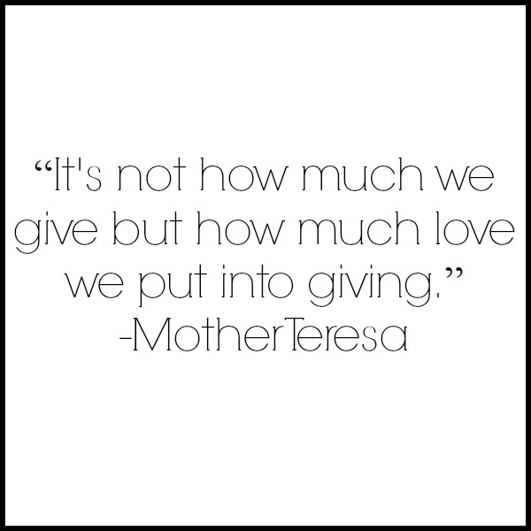www.thatonemom.com  The Importance of Giving (and Receiving) With a Cheerful Heart