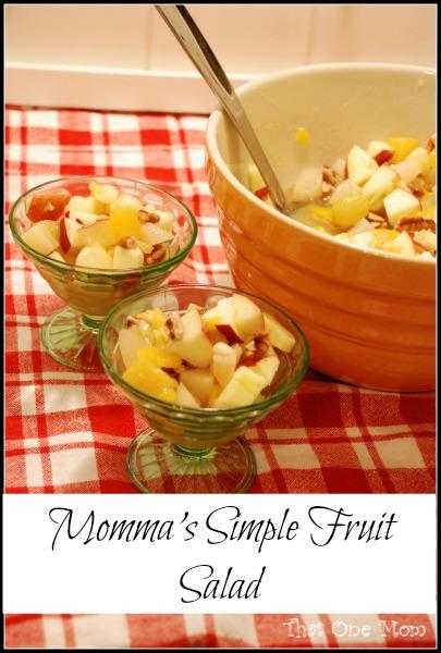 Momma's Simple Fruit Salad  *www.thatonemom.com*