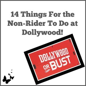 14 Things For the Non-Rider To Do at Dollywood!