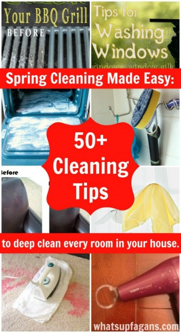 Whats Up Fagans 50-Plus-Cleaning-Tips-and-Tricks-to-deep-clean-every-room Spring Cleaning