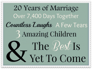 Happy 20th Anniversary To My Special Guy…20 Reasons Why I Love You!