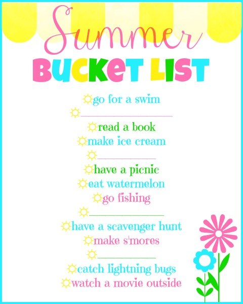 My Summer Bucket List (with a free printable for you!) www.thatonemom.com