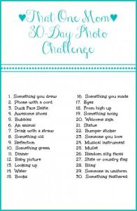 That One Mom 30 Day Photo Challenge www.thatonemom.com