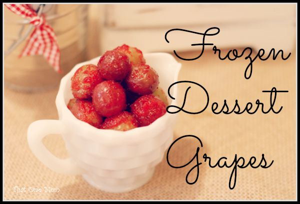 Frozen Dessert Grapes (aka Sugared Grapes!)  www.thatonemom.com