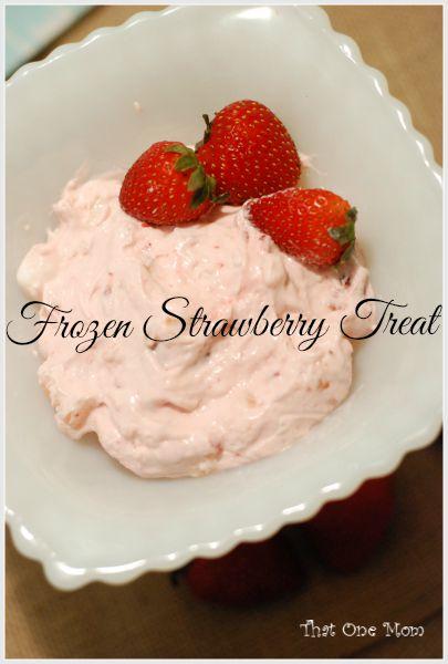 Frozen Strawberry Treat  www.thatonemom.com