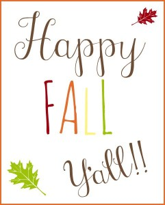Happy Free Fall Printable Y'all!!