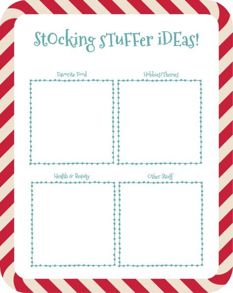Stocking Stuffers Printable www.thatonemom.com