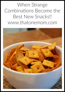When Strange Combinations Become the Best New Snacks... www.thatonemom.com