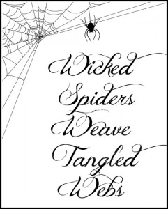 "Want a Free ""Wicked Spiders"" Printable for Halloween?  Here It Is!"