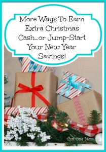 More Ways To Earn Extra Christmas Cash or Jump-Start Your New Year Savings! www.thatonemom.com