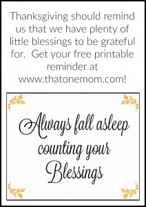 Thanksgiving: Don't Forget To Count Your Blessings (and Get Your Free Printable)! www.thatonemom.com
