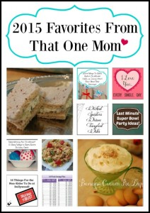 2015 Favorites From That One Mom www.thatonemom.com