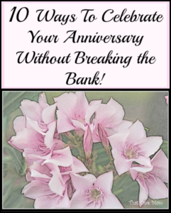 10 Ways to Celebrate Your Anniversary Without Breaking the Bank!! www.thatonemom.com
