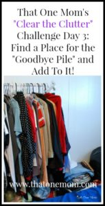 "Clear the Clutter Challenge Day 3:  A Place for the ""Goodbye Pile""!"