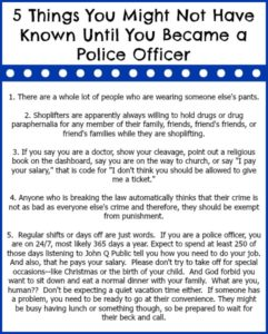 5 Things You Might Not Have Known Until You Became a Police Officer...and Happy Police Week! www.thatonemom.com