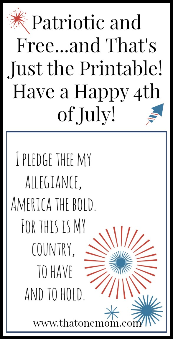 Patriotic and Free...and That's Just the Printable! (4th of July) www.thatonemom.com
