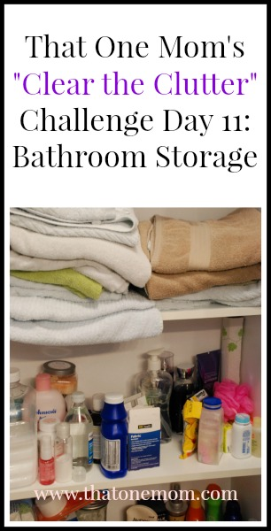 Clear the Clutter Challenge Day 11: Bathroom Storage www.thatonemom.com