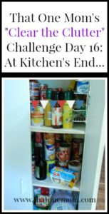 Clear the Clutter Challenge Day 16: At Kitchen's End... www.thatonemom.com