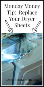Monday Money Tip: Replace Your Dryer Sheets www.thatonemom.com