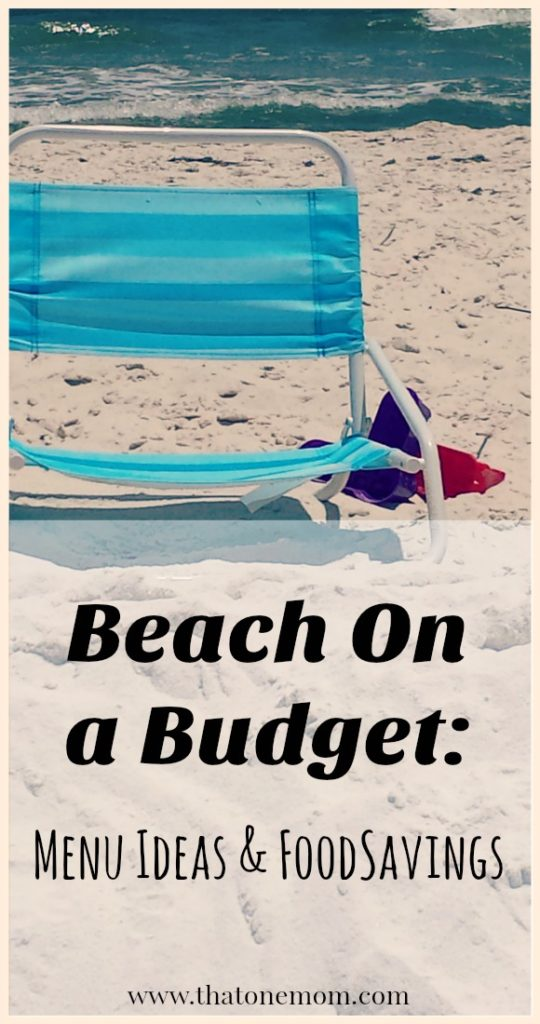 Beach on a Budget: Menu Ideas and Food Savings www.thatonemom.com