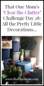 Clear the Clutter Challenge Day 28:  All the Pretty Little Decorations…