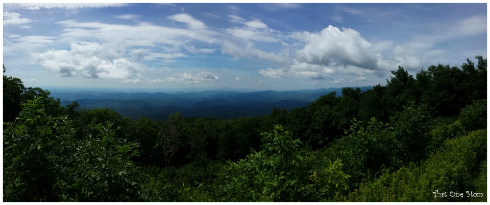Grandfather Mountain Highland Games--Beautiful View from the Blue Ridge Parkway www.thatonemom.com