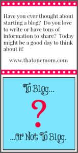 Have You Thought About Starting a Blog?