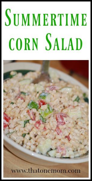Summertime Corn Salad www.thatonemom.com