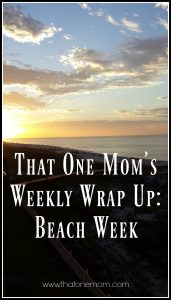 Weekly Wrap Up--Beach Week www.thatonemom.com