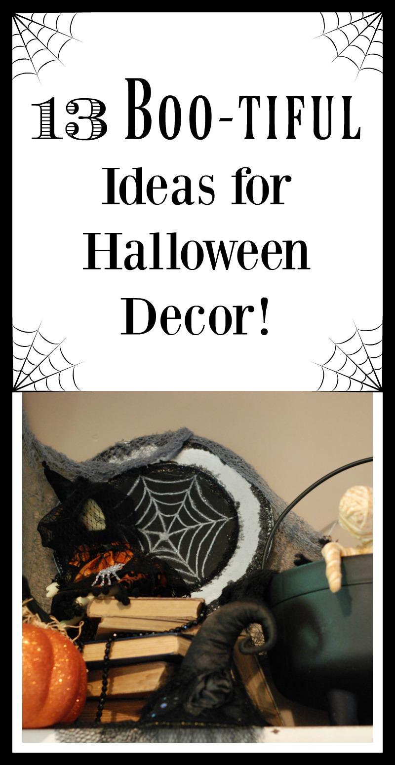 13 Boo-tiful Ideas for Halloween Decor! www.thatonemom.com