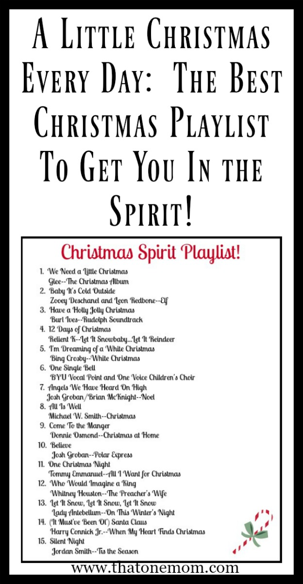 The Best Christmas Playlist To Get You In the Spirit! www.thatonemom.com