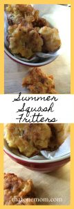 Summer Squash Fritters