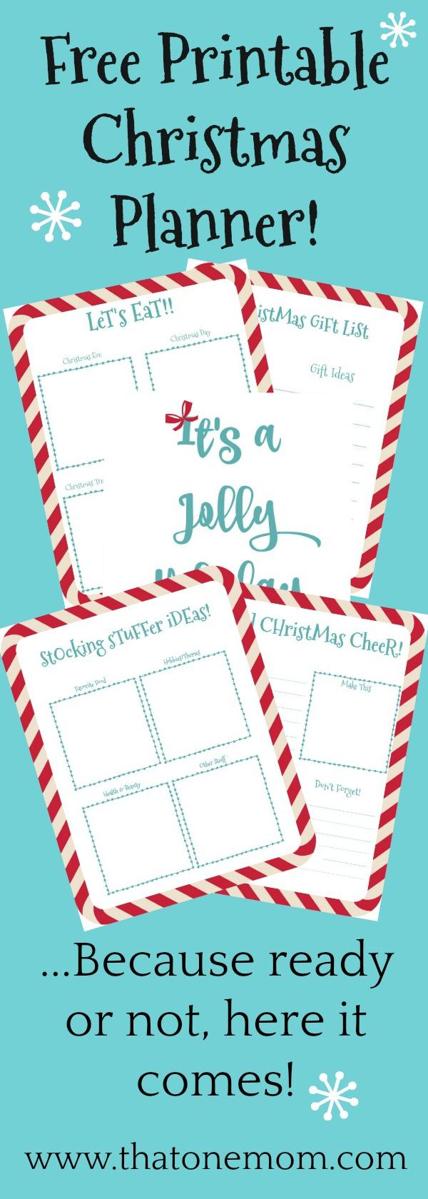 Free Printable Christmas Planner www.thatonemom.com