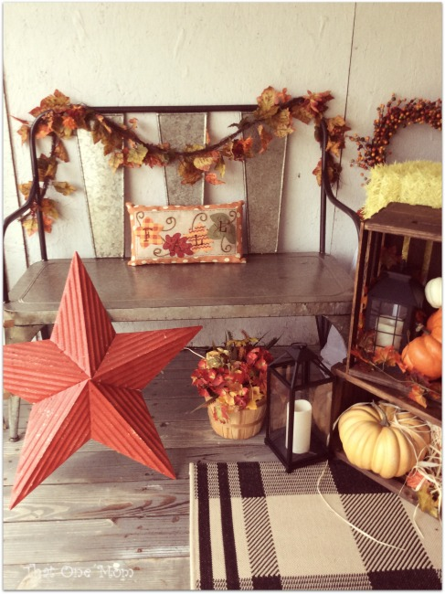 Finally Fall Front Porch! www.thatonemom.com