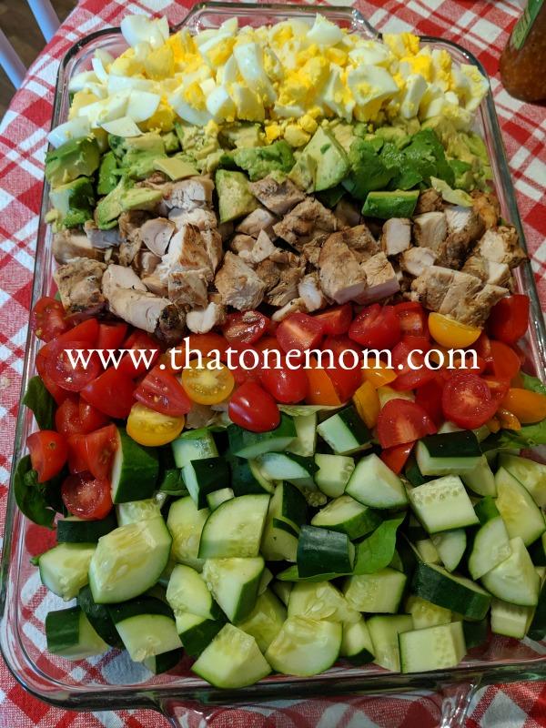 Simple Summer Salad ingredients