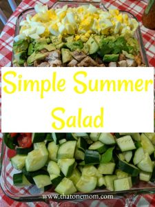 Simple Summer Salad graphic for Pinterest pin
