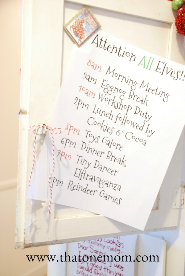 Photo of an Elf Schedule for the North Pole
